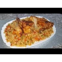 Arroz con pollo 4 personas  ارز و دجاج