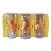Vasos cristal 6U 12cm كأس الزجاج