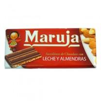 Maruja Chocolate con leche y almedra 150g ماروخا