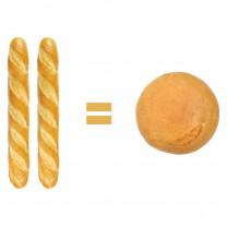 Pan baguete o pan tradicional redondo Un redondo equivale a 2 barras