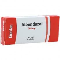 Albendazol 200mg, 1cp ( Antiparásitos intestinales)