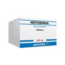 Metformina 875mg ,  30 Comprimidos (antidiabetico oral)