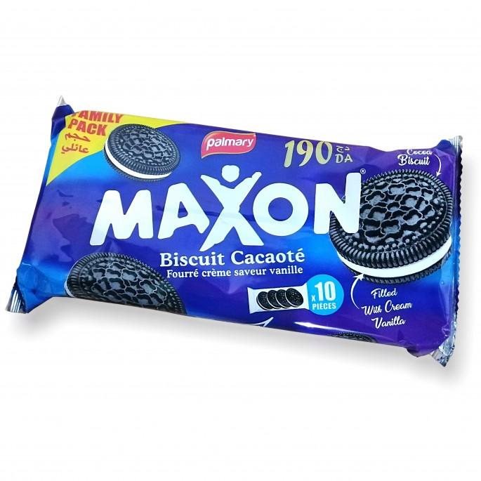 Pack Galletas de cacao Maxon 4×10pcs 100g بسكويت سوداء