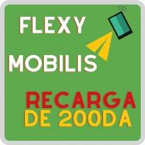Recarga saldo Mobilis 200 Flexy فليكسي ( indique el Nº del Tel  para recargar)