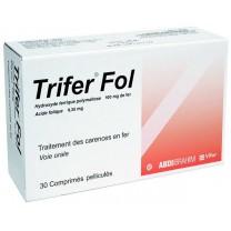 Trifer  Fol ( Hierro 100mg + Acido folico0.35mg)  30 comprimidos