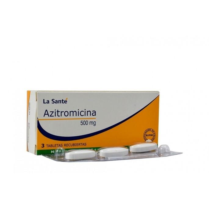 Azitromicina 500mg 3 Comprimidos Vía oral