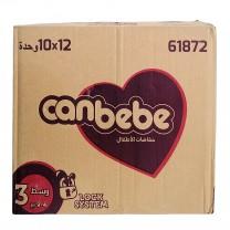 Pack 12x10 Pcs Pañales CANBEBE talla 3, 4-9 kg كرطون كانبيبي مرحلة الثالثة