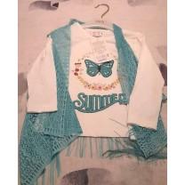 Camiseta larga doble piezas para niñas(elige talla)
