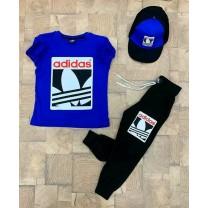 Conjunto para niños ( pantalon + Camiseta + gorro)