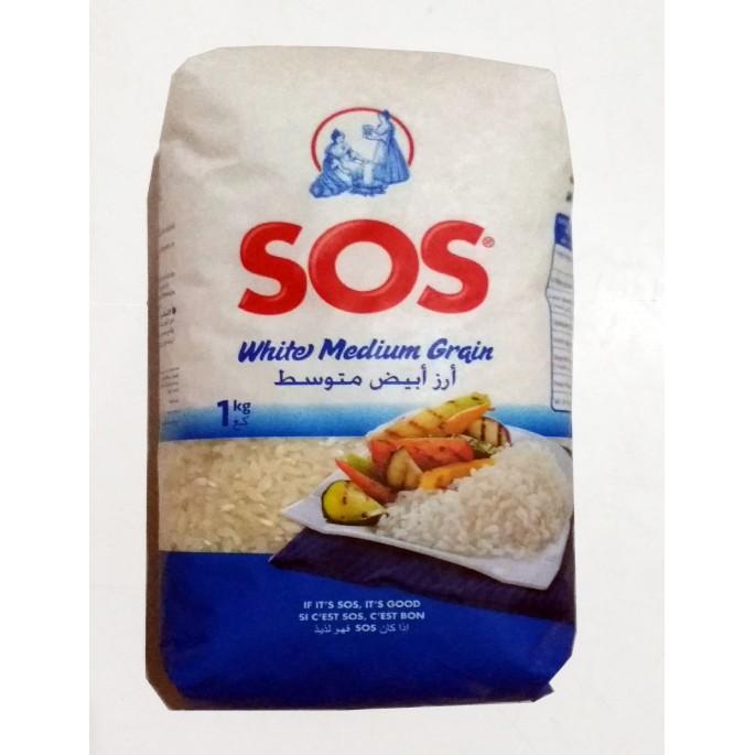 Arroz Redondo SOS 1kg ارز ابيض متوسط صوص