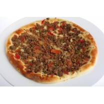 Pizza-Carne picada (elige pizza sola o con refresco)