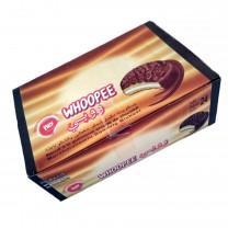 Galletas con crema malvavisco cubiertas de chocolate WHOOPEE 24u 600g